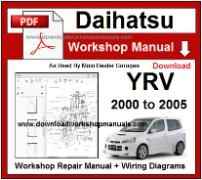 Daihatsu YRV Service Repair Workshop Manual Download